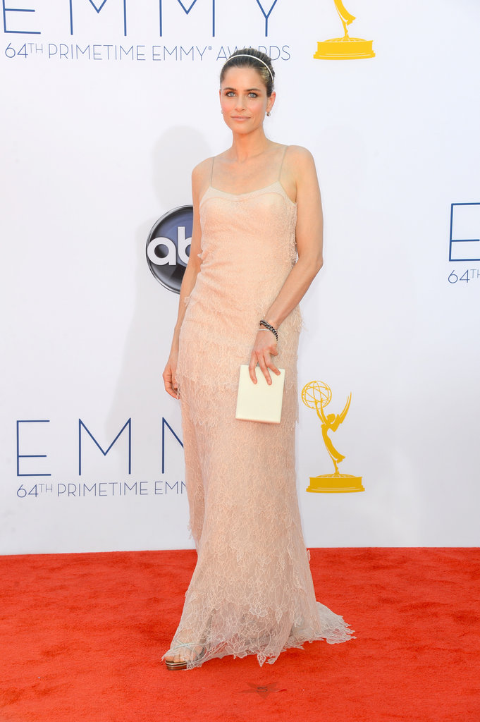 Mom of two — Frankie, 5, and Molly, 2 — Amanda Peetwent with a nude dress for the Emmys.