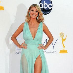 Heidi Klum Pictures at 2012 Emmy Awards in Alexandre Vauthier Gown With High Leg Slit