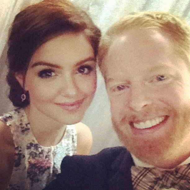 Jesse Tyler Ferguson ran into his Modern Family co-star Ariel Winter. Source: Instagram user jessetyler
