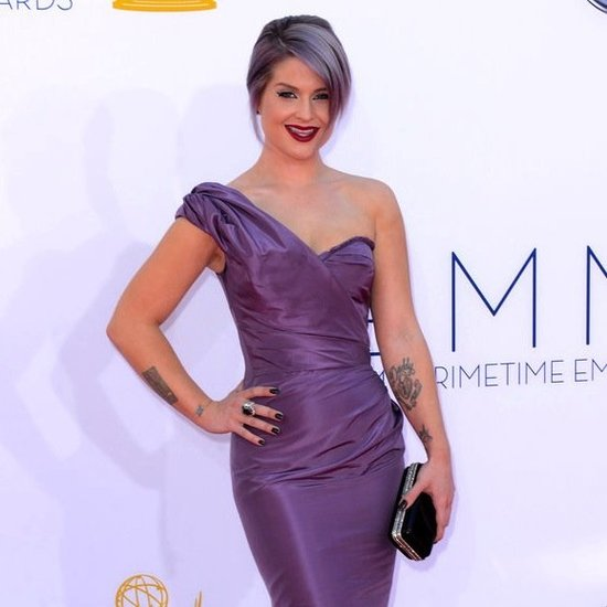 Kelly Osbourne in a Purple Dress at the Emmys 2012
