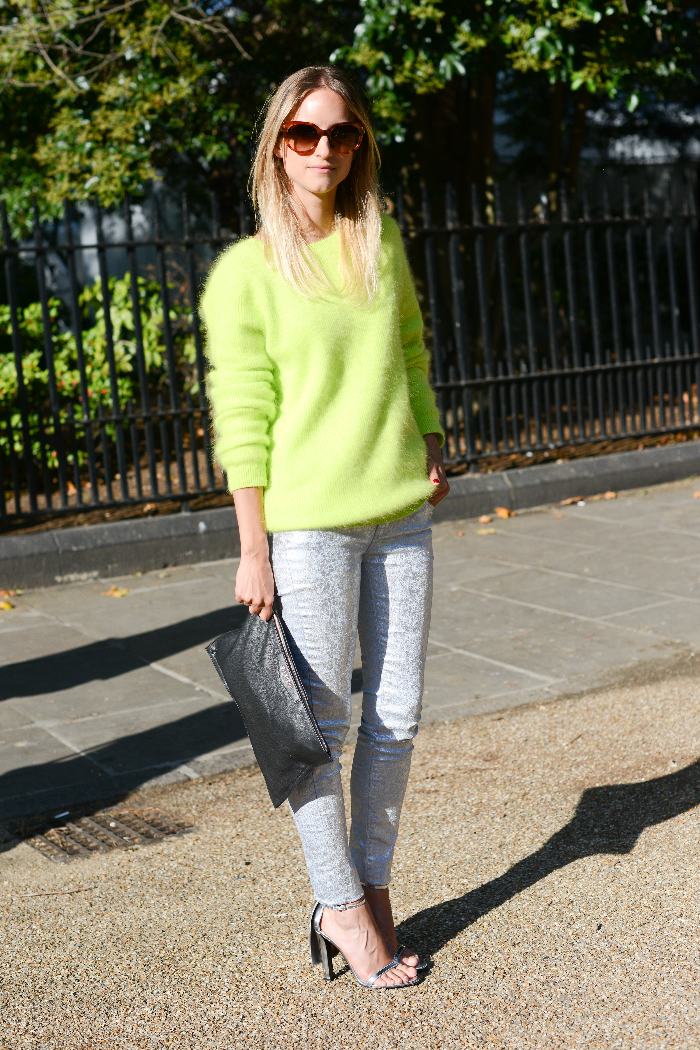 Make your sweater pop in a standout neon hue.