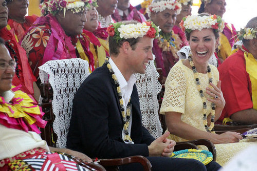 Kate laughed while enjoying the 2012 show in Tuvalu.