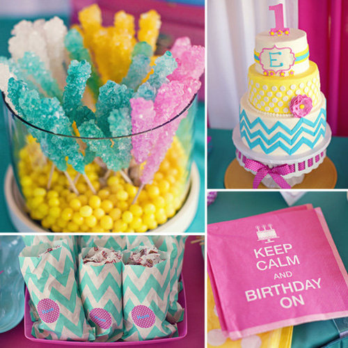 A Bold, Candy-Colored Birthday Party