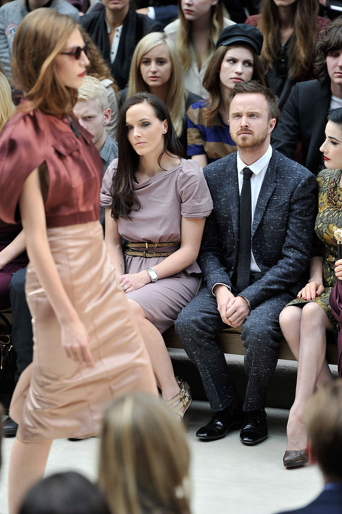 Victoria Pendleton and Aaron Paul at Burberry