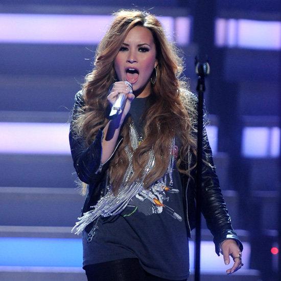 Demi Lovato Wearing Leather Jacket