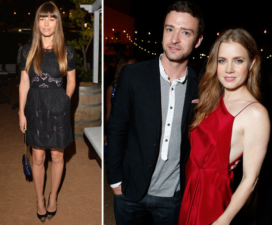 Justin Has Costar Amy and Fiancée Jessica at His Big Premiere