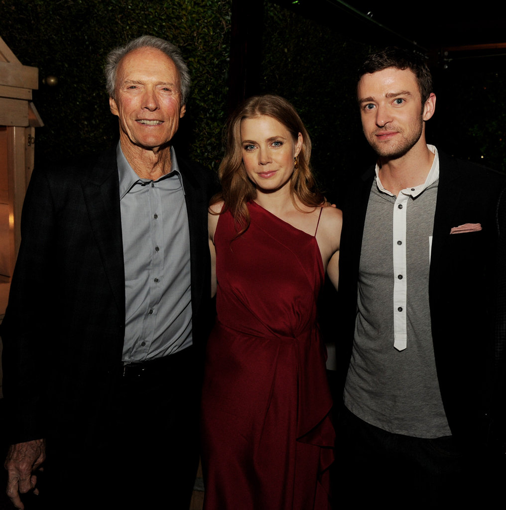 Justin Timberlake, Amy Adams, and Clint Eastwood got together at their Trouble With the Curve premiere in LA.