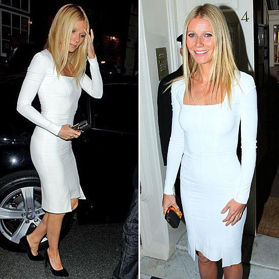Gwyneth Paltrow Wearing a White Dress | September 2012