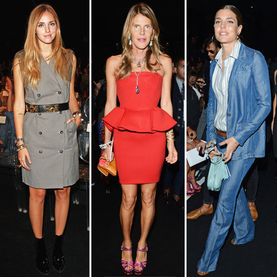 Celebrities Front Row at Spring 2013 Milan Fashion Week: Anna Dello Russo, Charlotte Casiraghi, Dash Zhukova & more