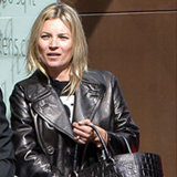 Shop Kate Moss's Brand-New Black Leather Coat