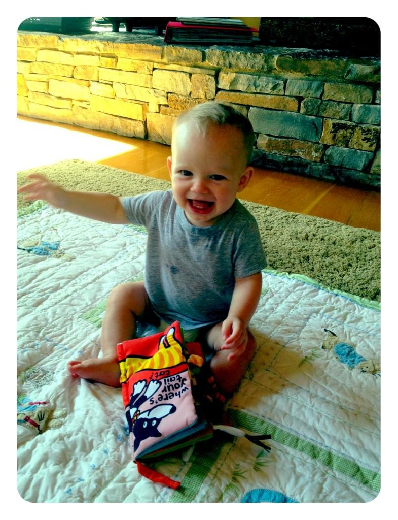 Baby Luca showed off his new teeth —and looked very excited about them! Source: Twitter user HilaryDuff