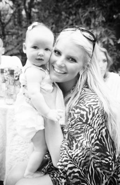 At fiancé Eric Johnson's birthday party, Jessica Simpson reflected back on where she was a year ago —when lil Maxwell was in her womb. Source: Jessica Simpson