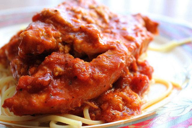 Slow Cooker Chicken Parmesan