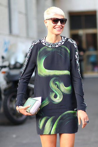 The embellishment and bold print made this look a serious standout in the crowd. Source: Greg Kessler