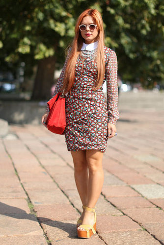 This printed dress was equal parts charming and cool.