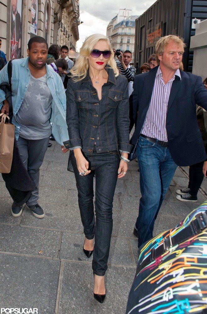 Gwen Stefani Models Denim on Denim in Paris