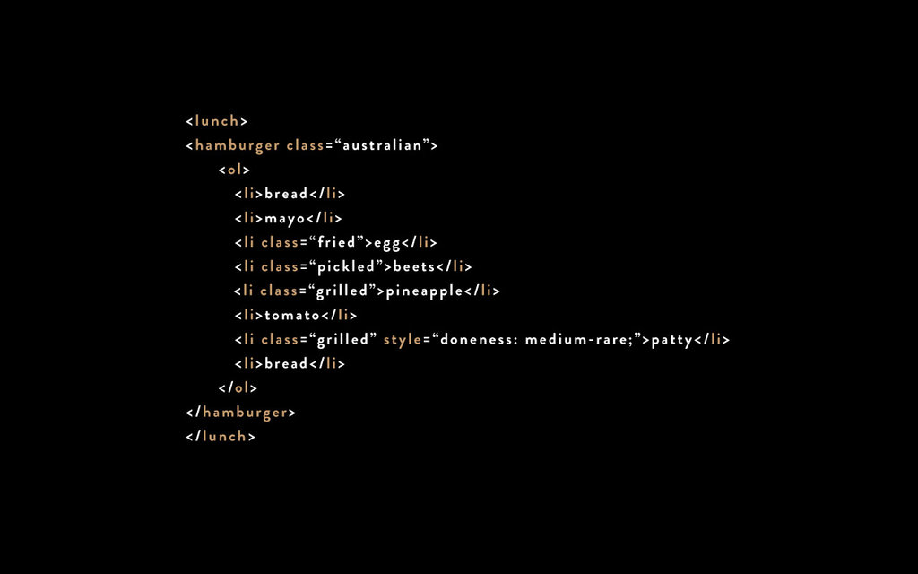Hamburger Text Markup Language by Don't Fear the Internet