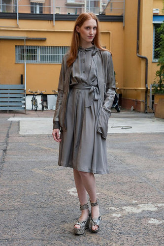 Even the palest grays can look ever so chic and feminine. Source: IMAXtree