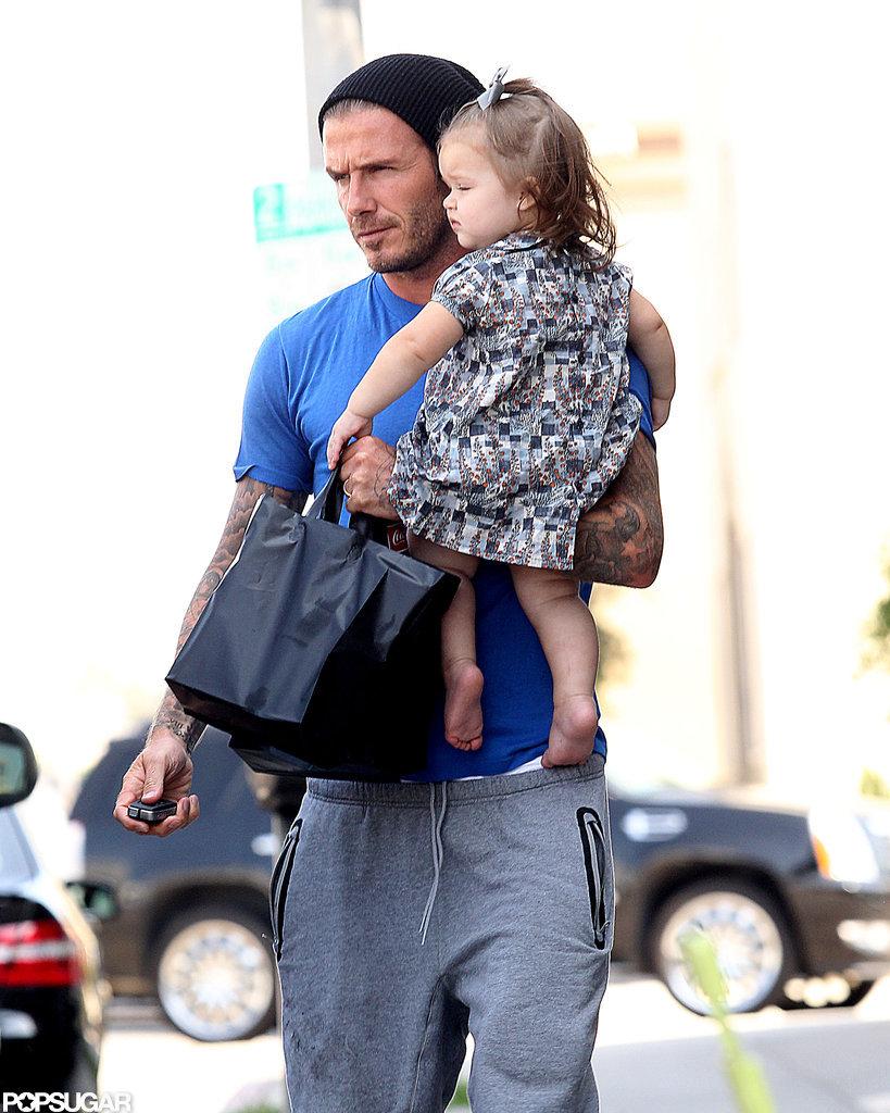 David and Harper Beckham Make an Adorable Afternoon Duo