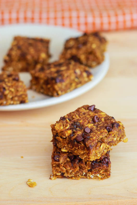 Recipes: Pumpkin Chocolate Chip Oatmeal Bars