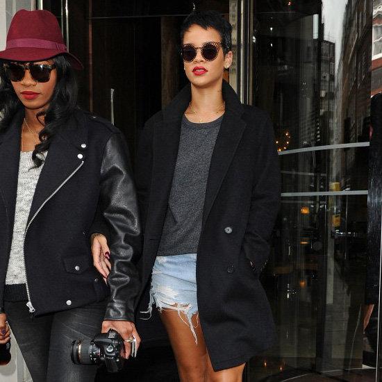 Rihanna Wearing Leopard Booties