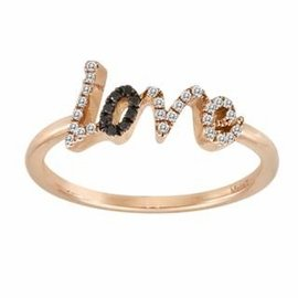 Spread the love with this rose gold, diamond, and black diamond Meira T Love Ring ($725). Twenty percent of sales go to the Susan G. Komen Cure Foundation.