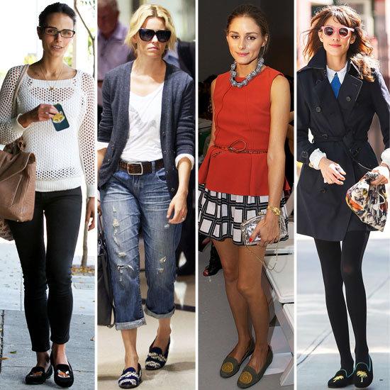 Celebrities Wearing Loafers | Fall 2012