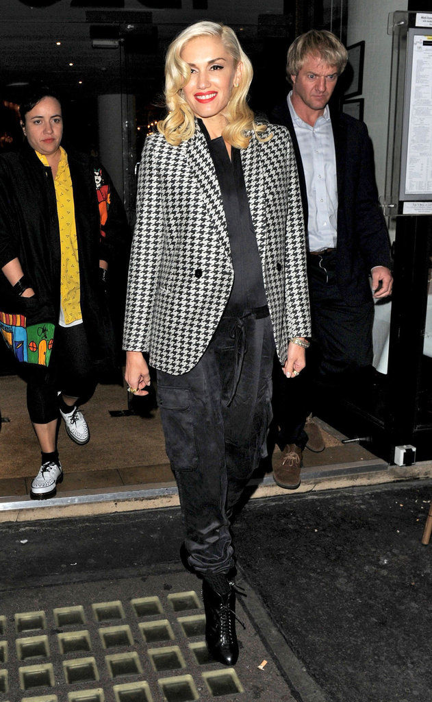 Gwen Stefani had a smile on her face in London.