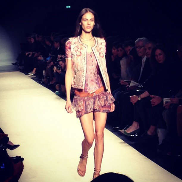 Isabel Marant showed a flirty and fun collection with embellished separates.