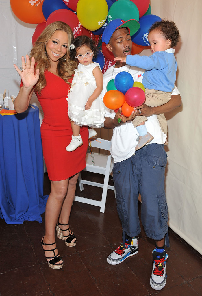 Nick Cannon and Mariah Carey posed with their twins, Monroe and Moroccan Cannon.