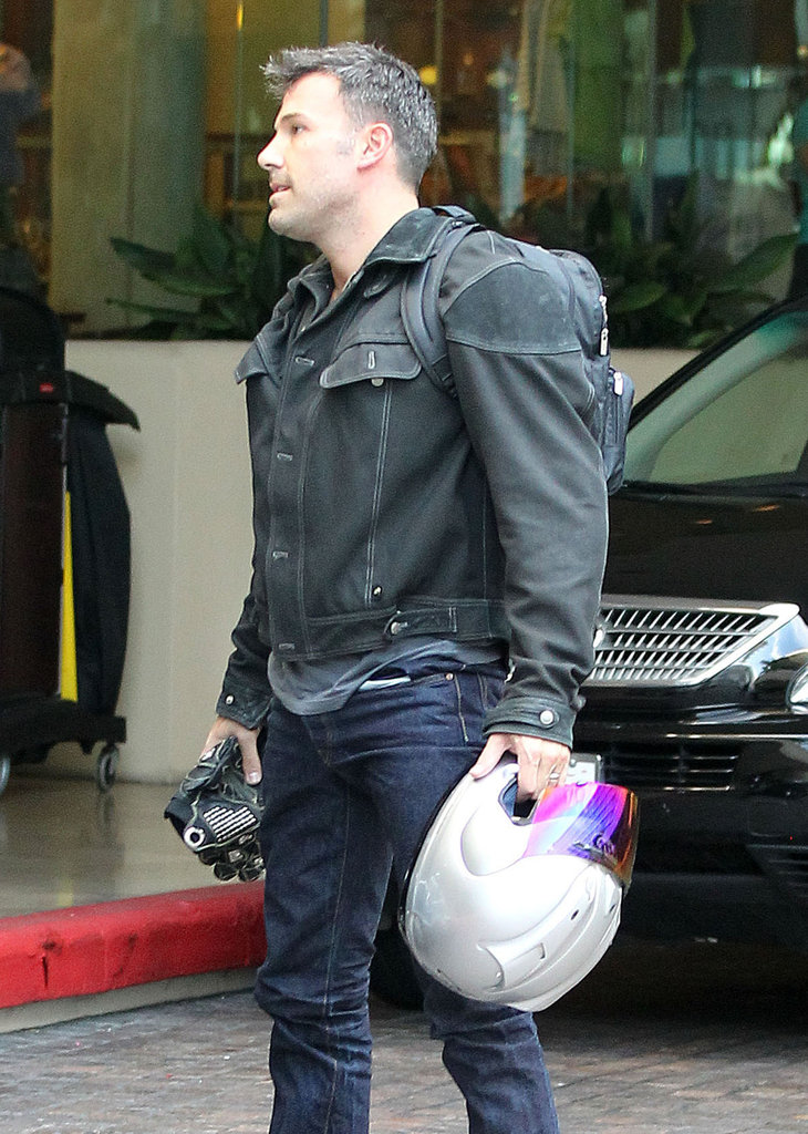 Ben Affleck rode his motorcycle in LA.