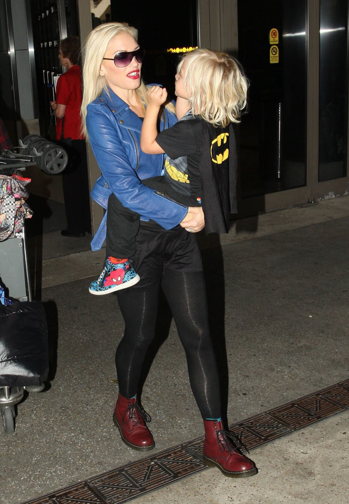 Gwen Stefani and Zuma Rossdale arrived at LAX.