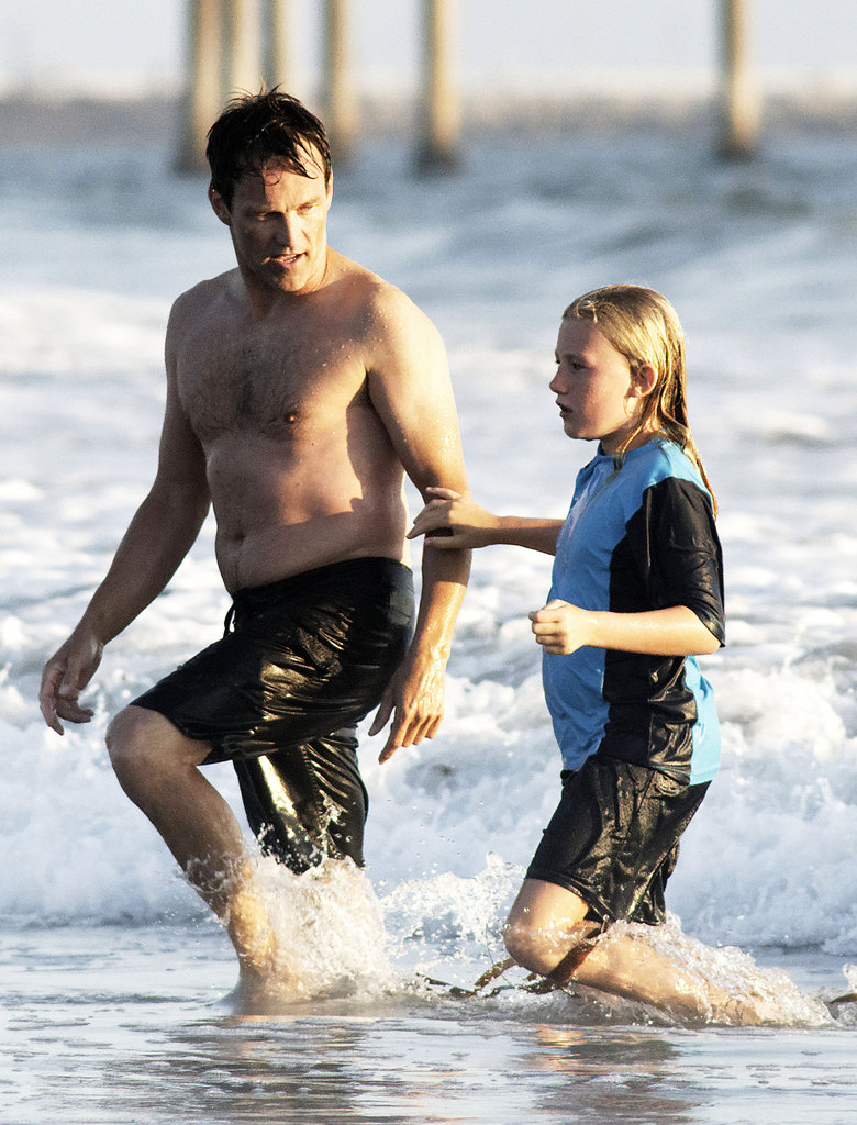 Stephen Moyer hit the waves with his daughter Lilac Moyer.