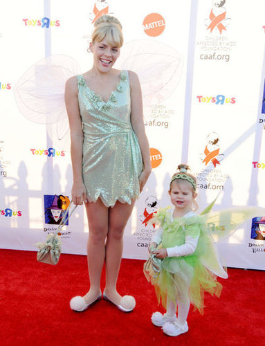 Busy Philipps and her daughter, Birdie, got in touch with their inner Tinkerbell at an LA party in 2010.