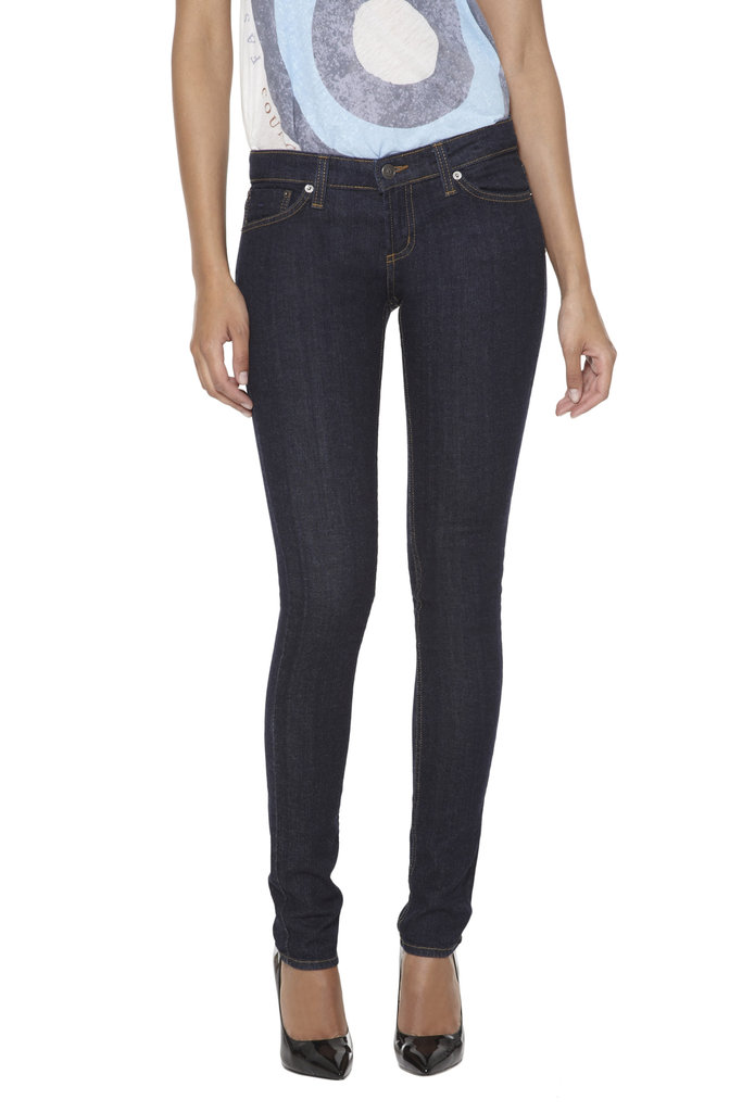 Update a wardrobe staple just in time for Winter. These dark denim, slim-cut  Nine West Runway Relief Jet by John Eshaya Jeans ($194) are a Fall must have, and all proceeds will be donated to CFDA's Fashion Targets Breast Cancer.