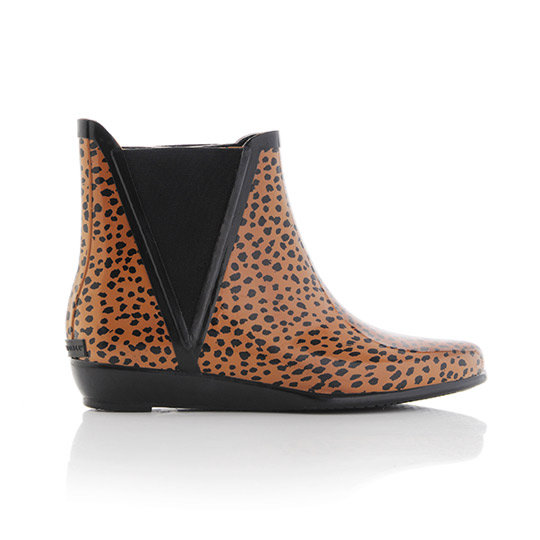 I can't be mad at the rain when I have these Loeffler Randall Leopard Print Wellies ($150)! Now all I need is a matching umbrella . . . ella . . . ella . . . — Liza Kaplan, fashion and beauty producer
