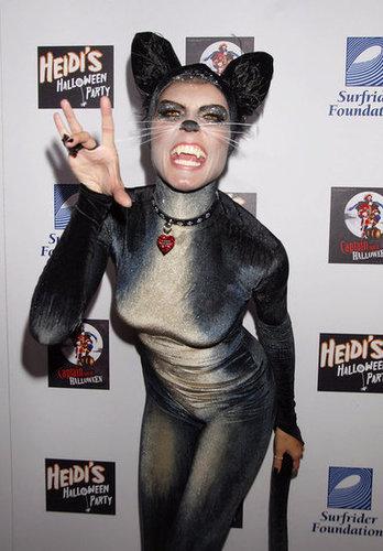 Heidi Klum got catty for her 2007 costume in LA.