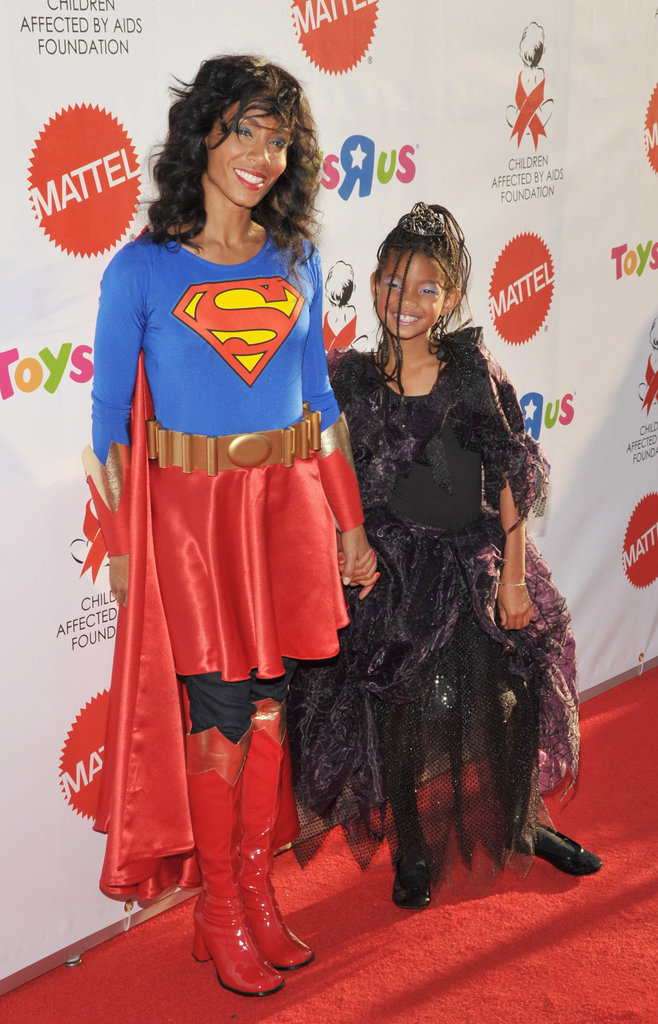Jada Pinkett Smith and Willow Smith got dressed up together for a 2008 Halloween party to benefit AIDS research in LA.