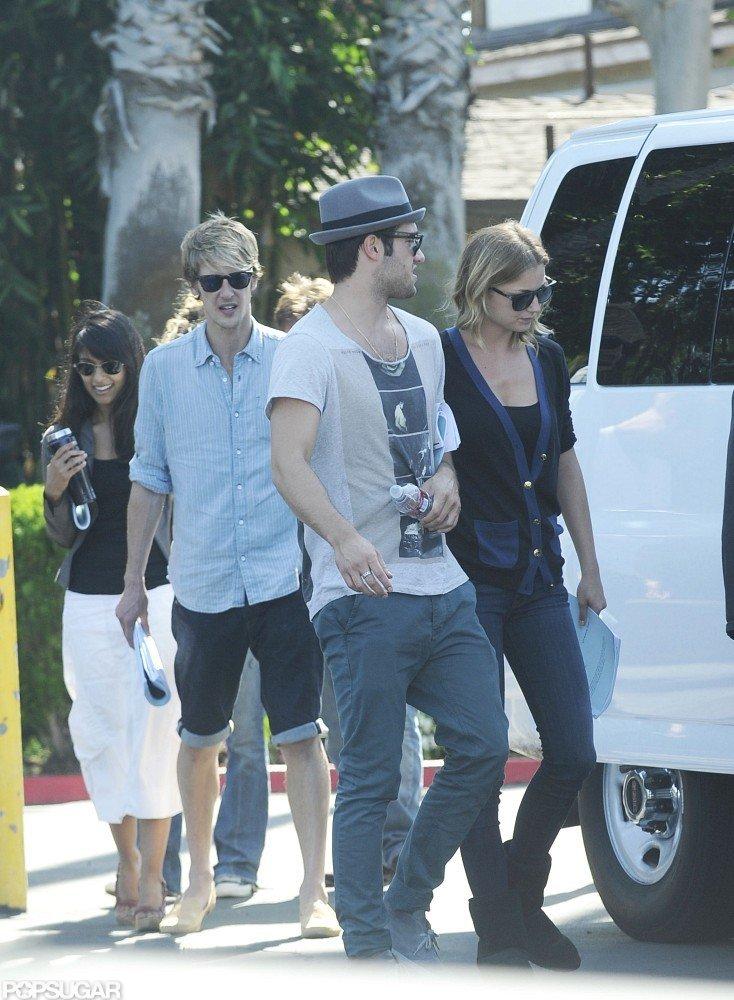 Joshua Bowman and Emily VanCamp filmed for Revenge together in LA.