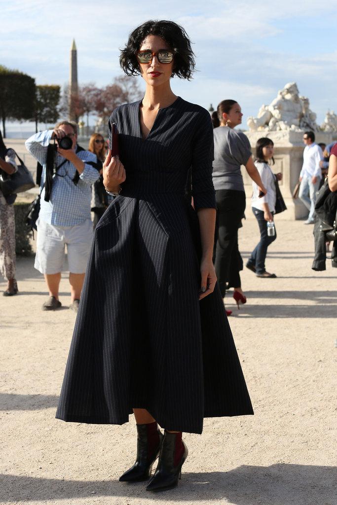 A voluminous dress stole the spotlight here.