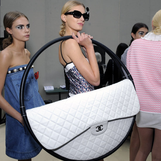 Karl Lagerfeld Explains Chanel Hula Hoop Bag