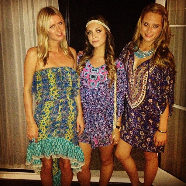 Nicky Hilton dressed up and spent time with her cousins. Source: Twitter user NickyHilton