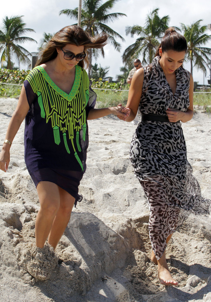 Kim and Kourtney Hit the Beach While Khloe Preps For The X Factor