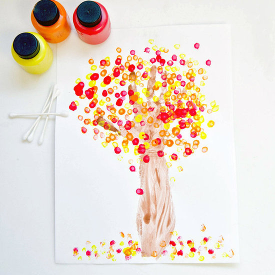 Fall Handprint Tree