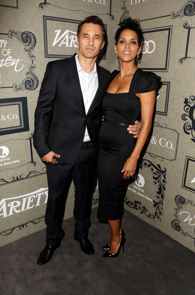 Halle Berry and Olivier Martinez both wore black.