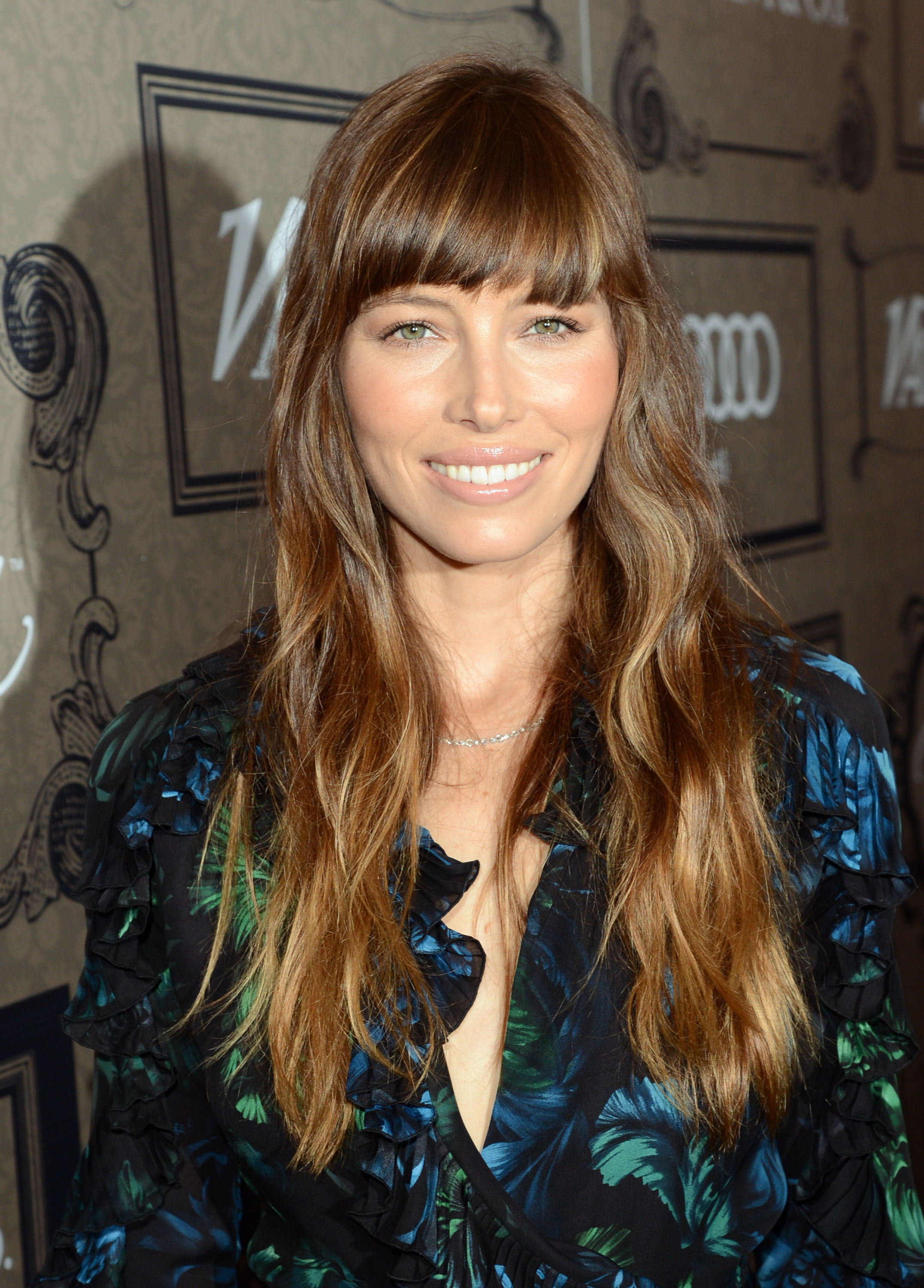 Jessica Biel wore her hair down for the occasion.