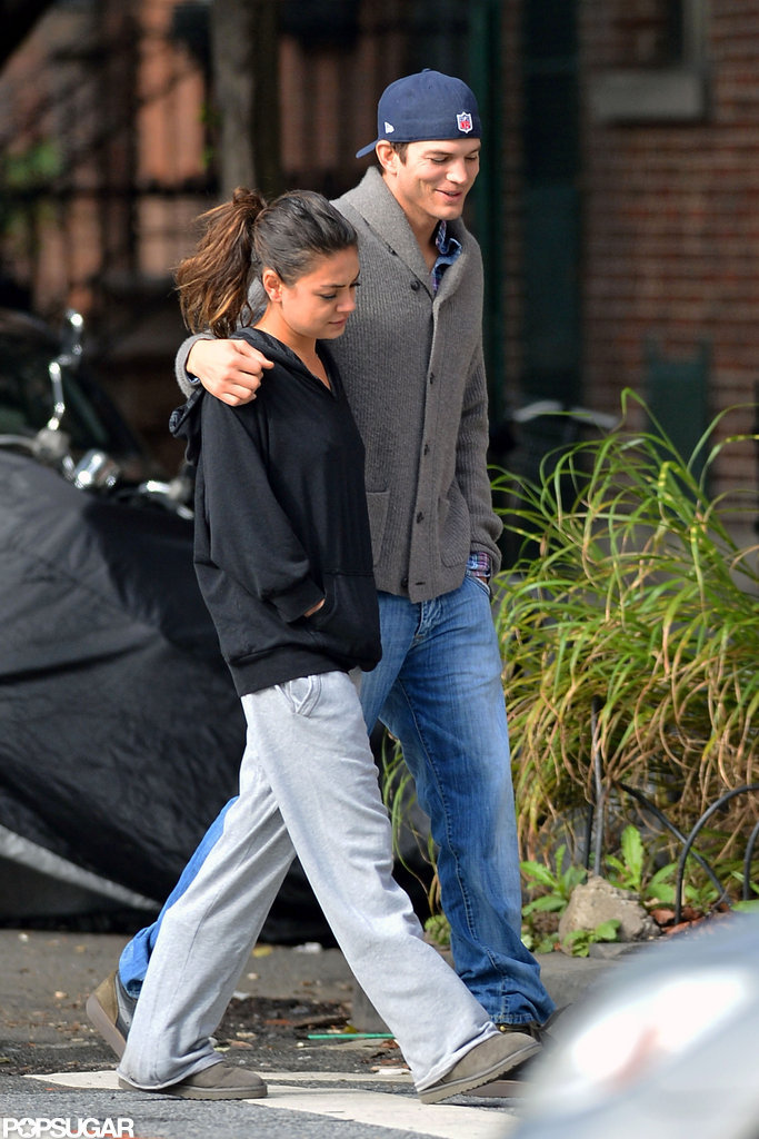 Mila Kunis and Ashton Kutcher stuck together in NYC.