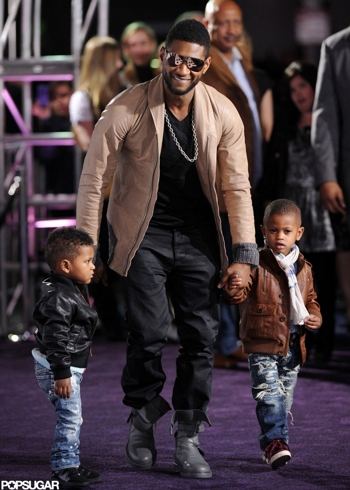 Usher brought Justin Bieber's smallest fans, Usher Raymond V and Naviyd, to the premiere of the singer's film Never Say Never in 2011.