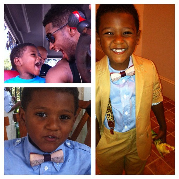 He shared sweet photos of himself and his well-dressed boys, Usher V and Naviyd, on Father's Day in 2012. Source: Instagram user howuseeit