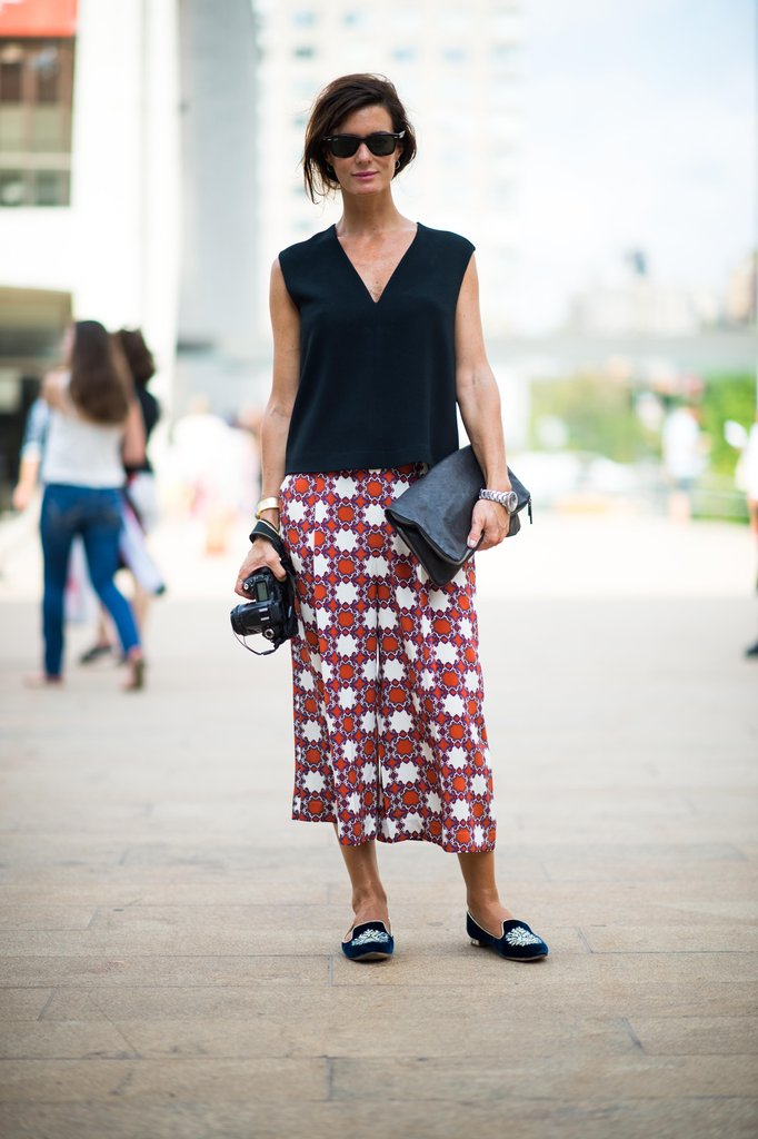 All it takes are these perfect Fall loafers to inject a dose of seasonal chic into this minimalist play on print. Source: Adam Katz Sinding